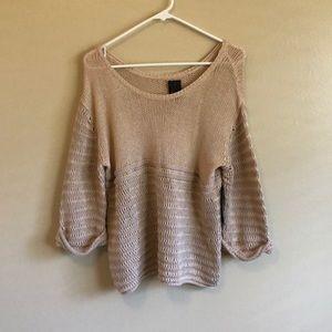 ella moss beige knit sweater
